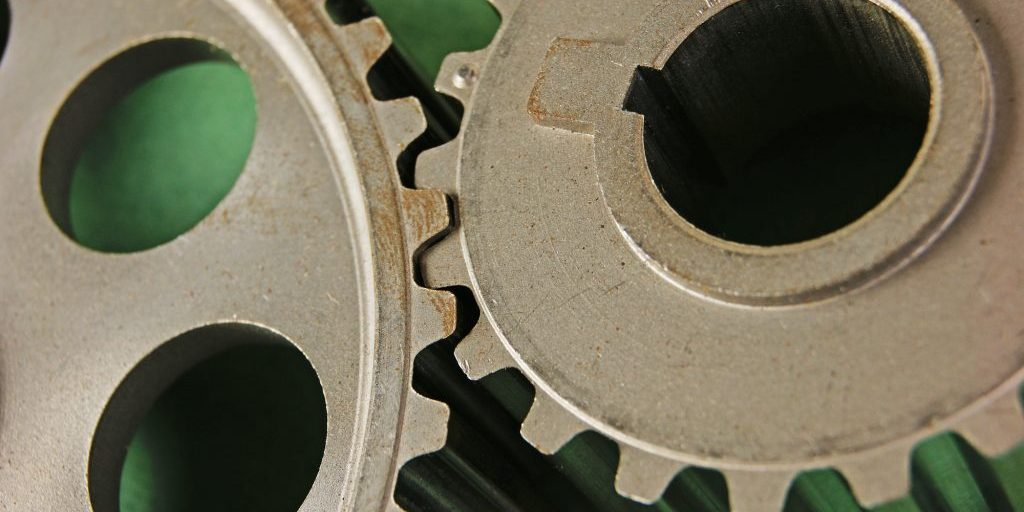 gears  on a green background